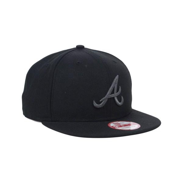 adfafc69014 Atlanta Braves Hats New Era Baseball. Lyst - Ktz Atlanta Braves Mlb Night  Snake 9fifty Strapback