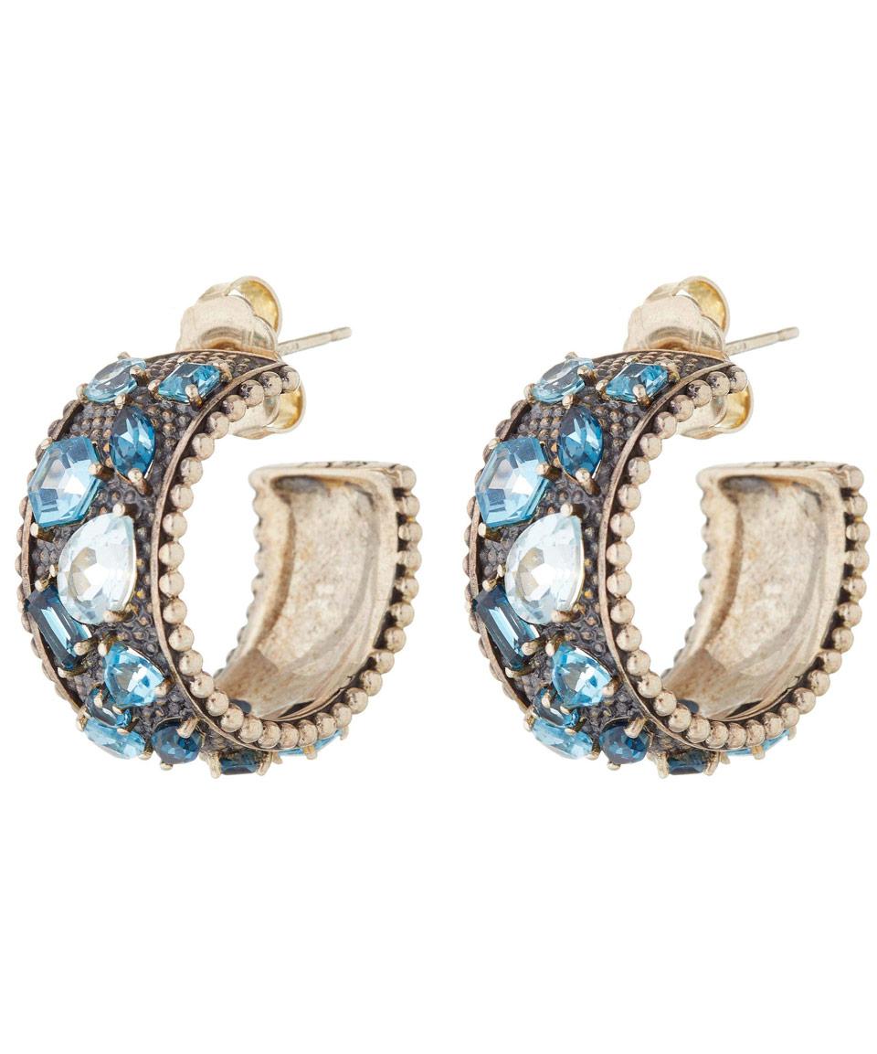 Stephen dweck Blue Topaz Hoop Earrings in Blue