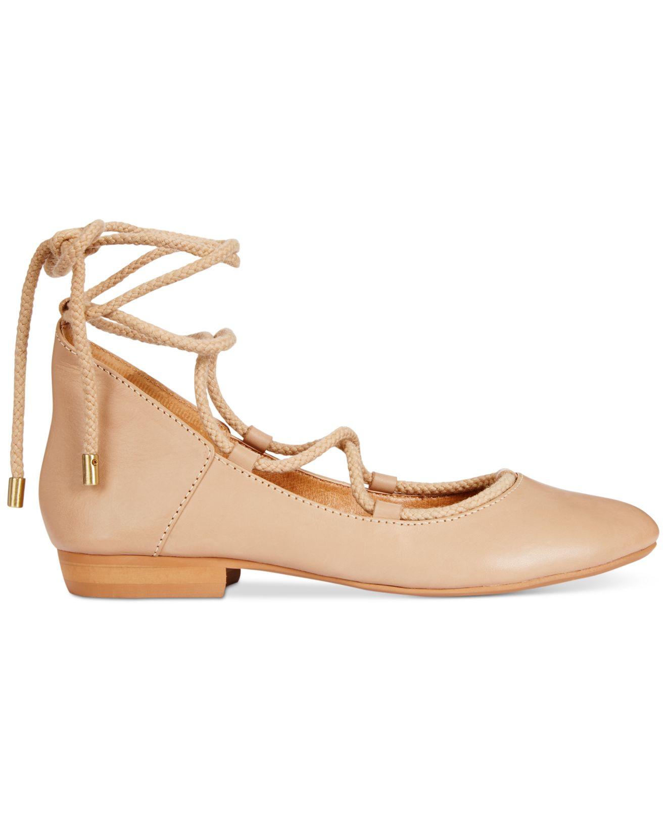 Lyst  Kelsi Dagger Brooklyn Deandra Laceup Ballet Flats