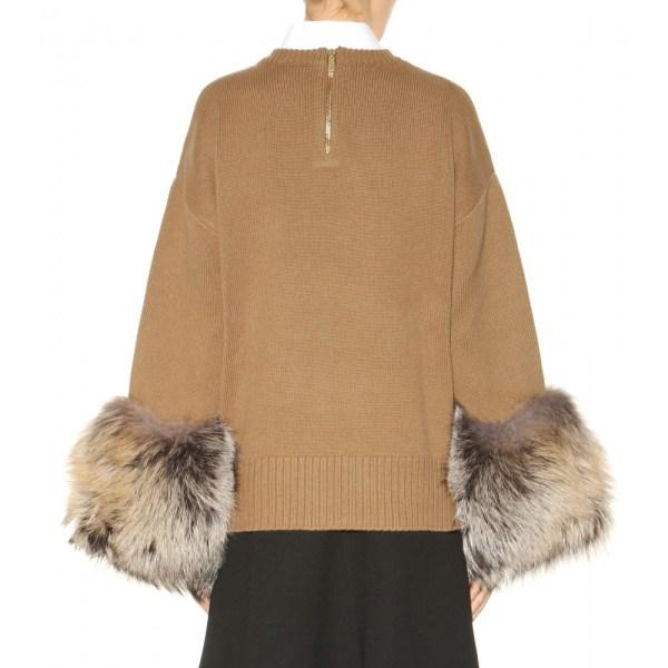 Michael Kors Fur Trim Sweater