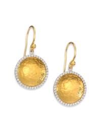 Gurhan Hourglass Diamond & 24k Yellow Gold Small Drop ...