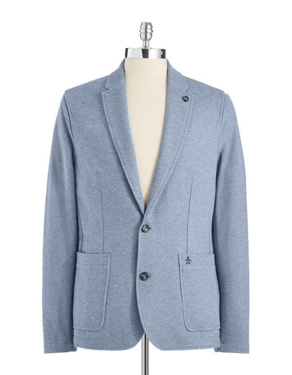 Original Penguin Denim Knit Blazer In Blue Men Lyst