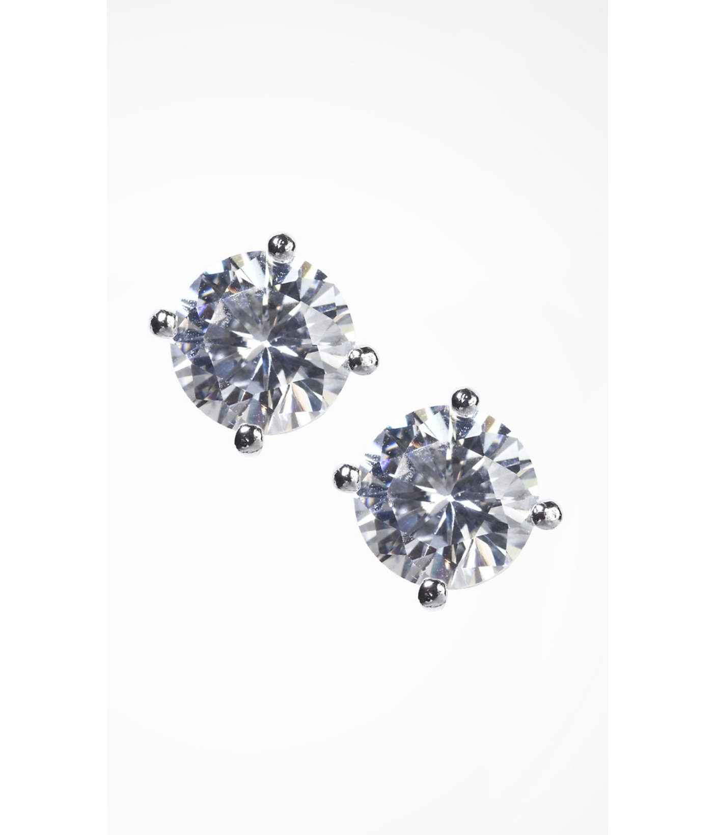 Express Cubic Zirconia Stud Earrings In Metallic