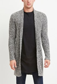Mens gray shawl collar sweater