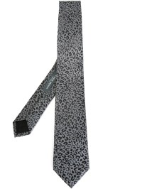 Lyst - Alexander Mcqueen Leopard Skull Tie in Gray for Men