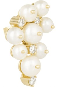 Holly dyment 14-Karat Gold, Pearl And Diamond Earrings in ...