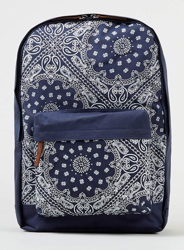 Topman Navy Bandana Backpack In Blue Men Lyst