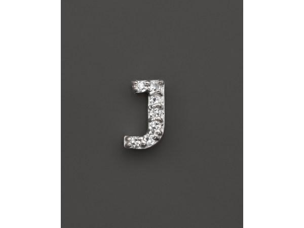 Kc Design Diamond Initial Stud Earring In 14k White Gold