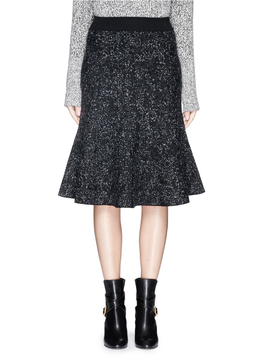 Theory Marvita Reversible Stretch Wool Blend Flute Skirt