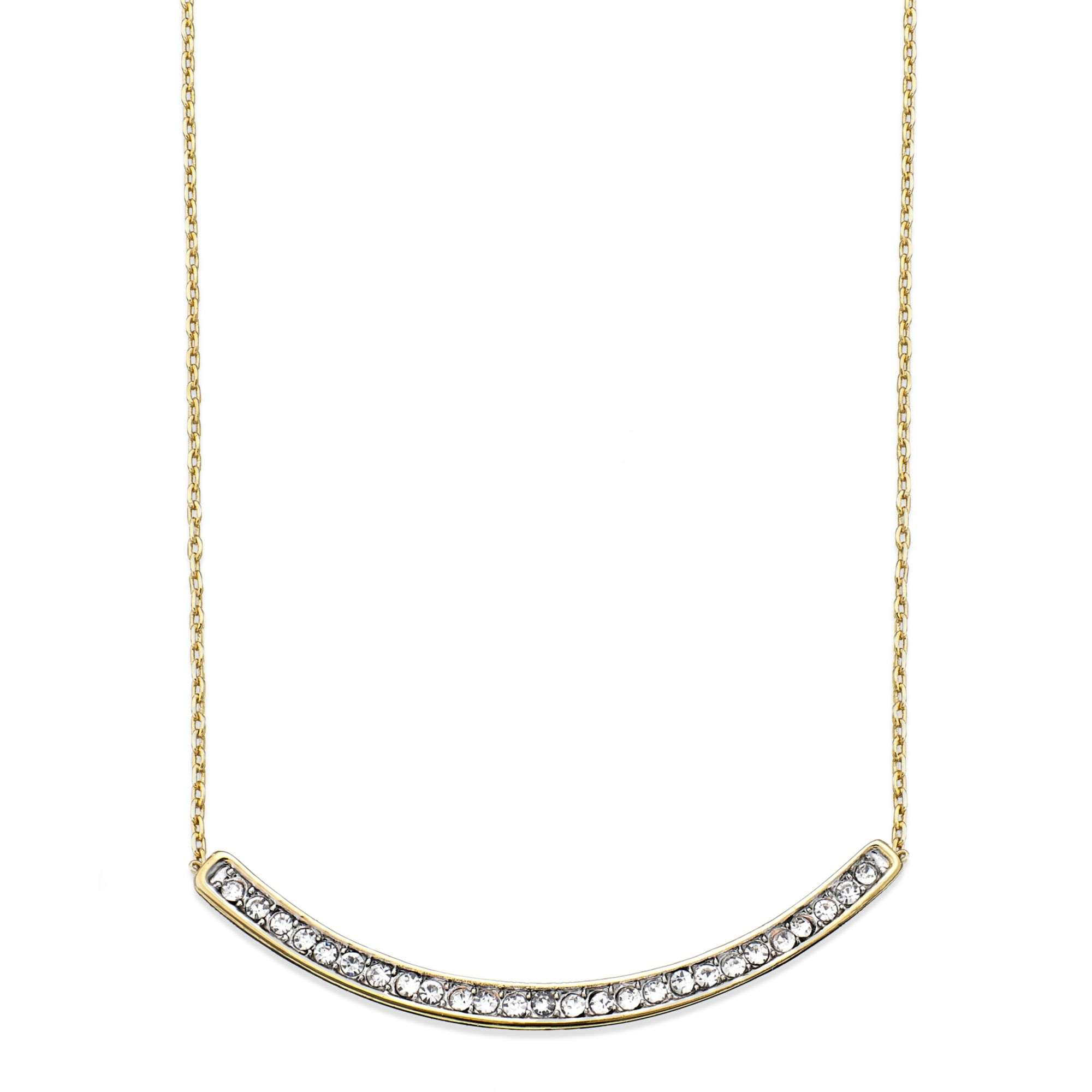 Juicy Couture Goldtone and Crystal Pave Curved Bar