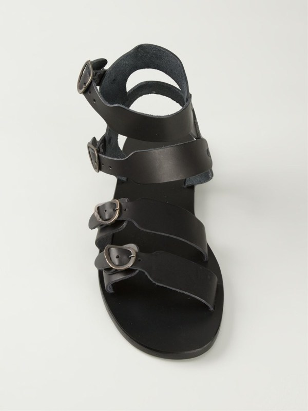 Ancient Greek Sandals Achilleas In Black Men