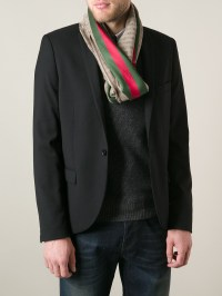 Lyst - Gucci Monogram Scarf in Brown for Men