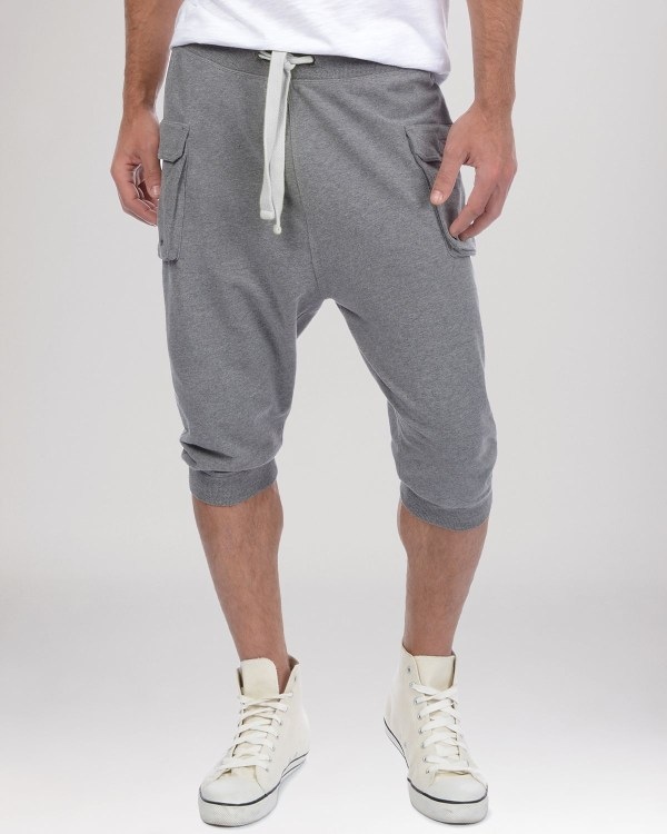Lyst - 2xist 2 X Ist Cargo Pocket Capri Sweatpants In Gray Men