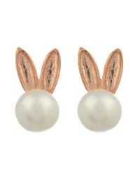 Lyst - Aamaya By Priyanka Bunny Pearl Earrings in Metallic