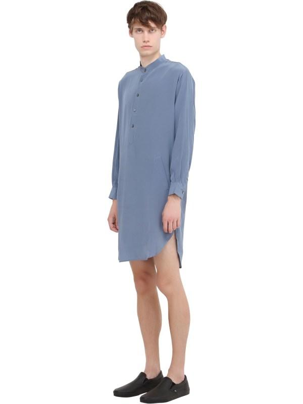 Lyst - La Perla Silk Nightshirt In Blue Men