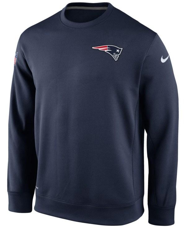 Nike Men' England Patriots Ko Chain Crew Sweatshirt