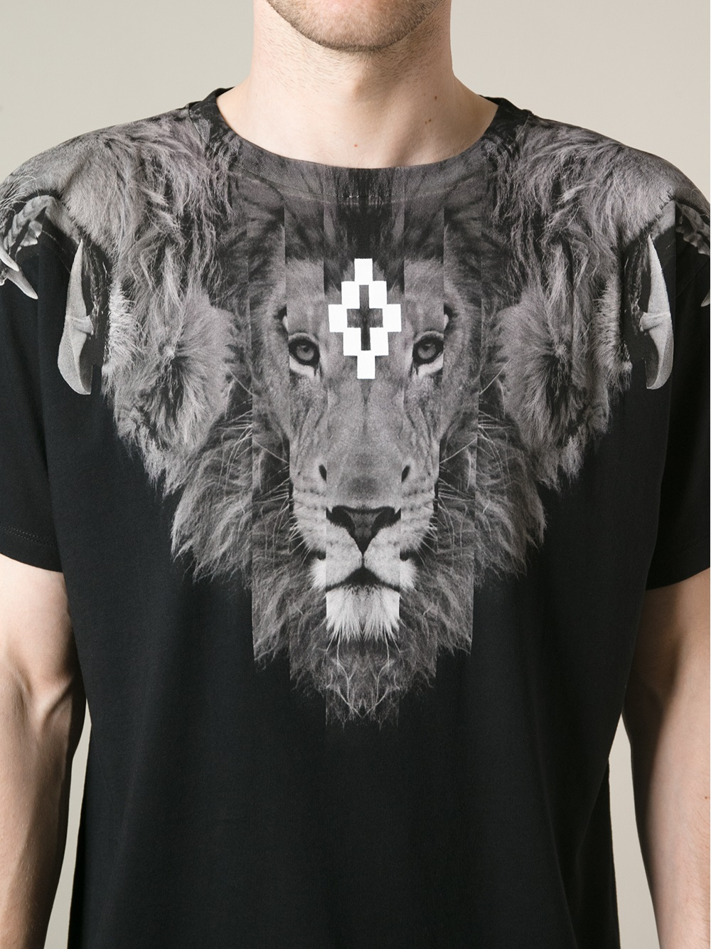 Lyst  Marcelo burlon Lion Print Tshirt in Black for Men