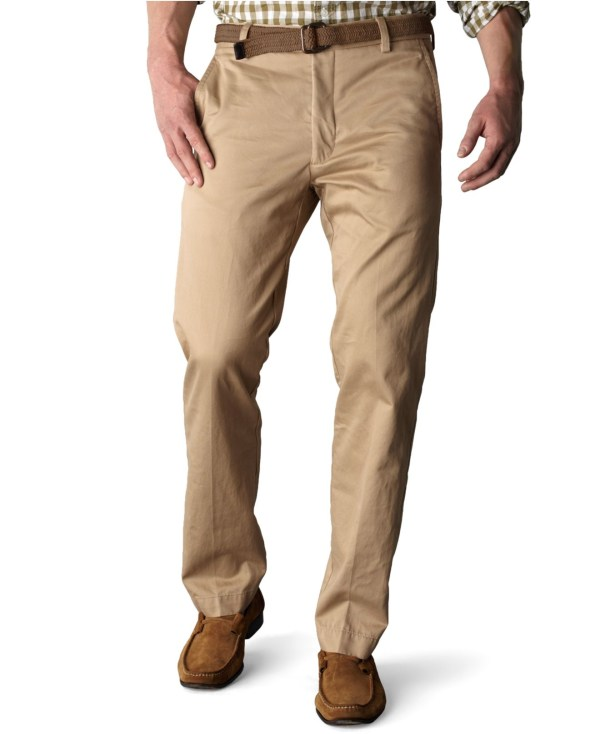 Dockers Signature Khaki Slim Fit Flat Front Pants In