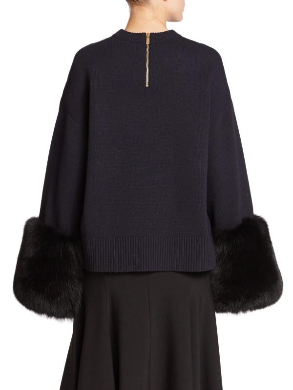 Lyst - Michael Kors Fox Fur-trimmed Wool & Cashmere