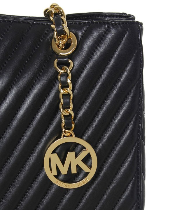 Michael Kors Susannah Chevron Quilted Tote Bag In