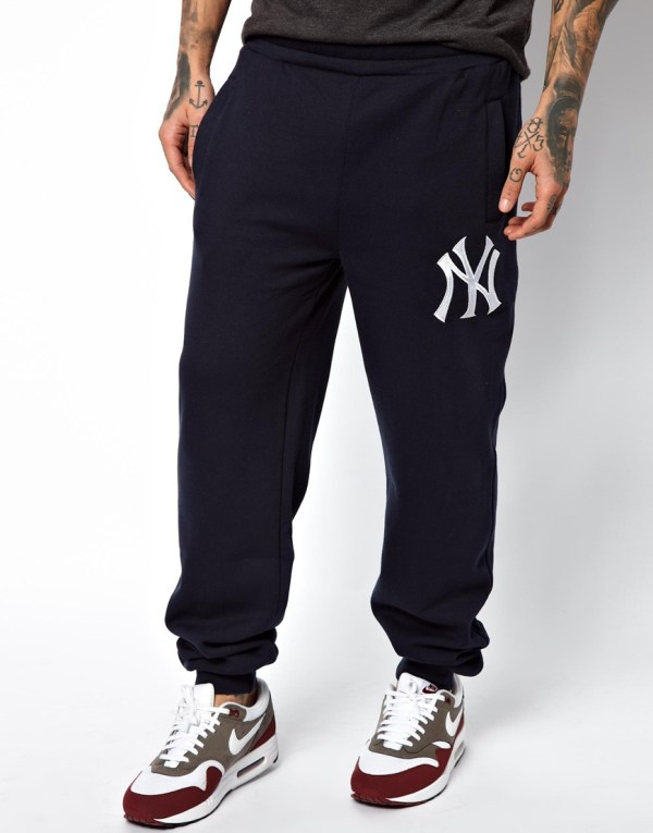 Majestic Ny Yankees Sweat Pants In Blue Men Navy Lyst