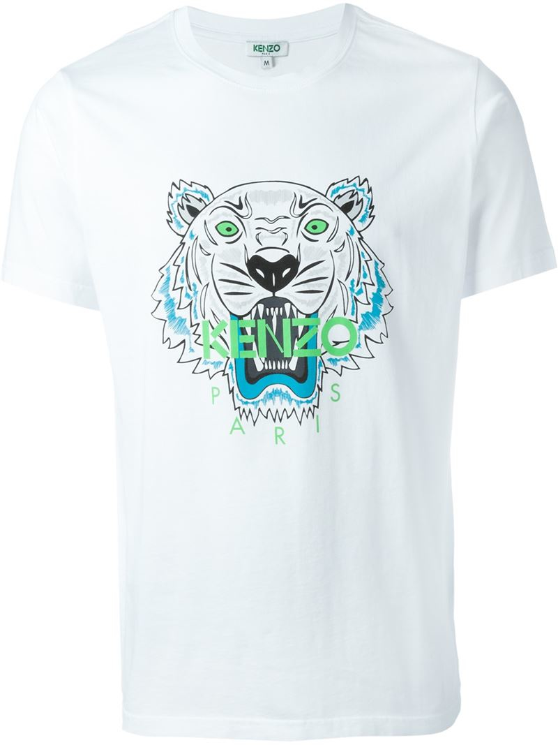 5e924b62 Lyst Kenzo White Cotton Tiger Tshirt In White For Men - Homemade ...