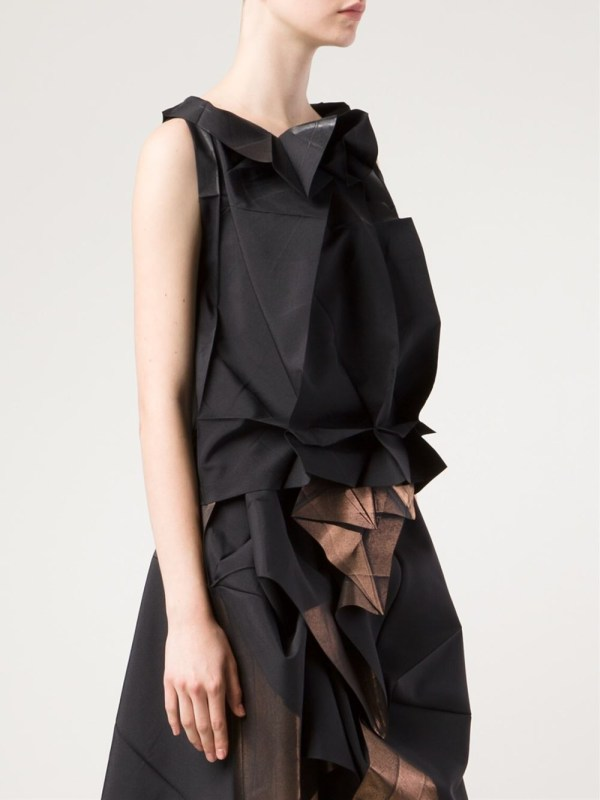 Lyst - 132 5. Issey Miyake Origami Style Sleeveless Top In