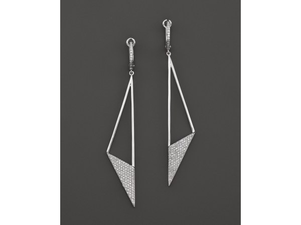 Lyst - Kc Design Diamond Geometric Drop Earrings In 14k
