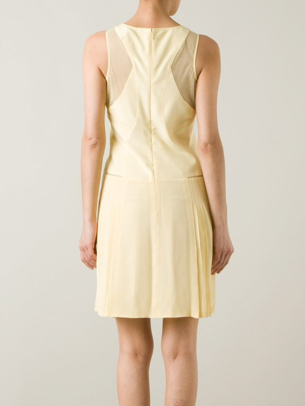 Lyst Victoria Victoria Beckham Sheer Panel Shift Dress