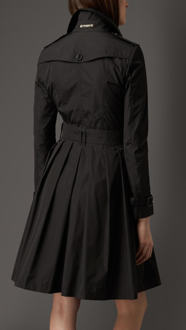 Burberry Skirted Trench Coat In Black Lyst
