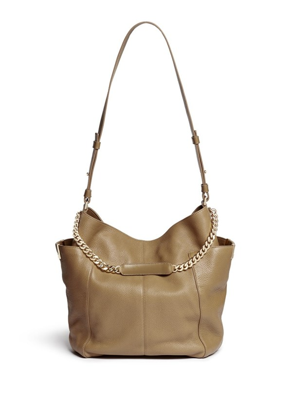 Lyst - Jimmy Choo 'anna' Leather Hobo Bag In Brown