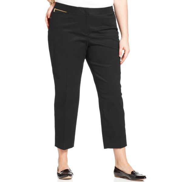 Jones York Signature Size Cropped Straightleg Pants In Black Lyst
