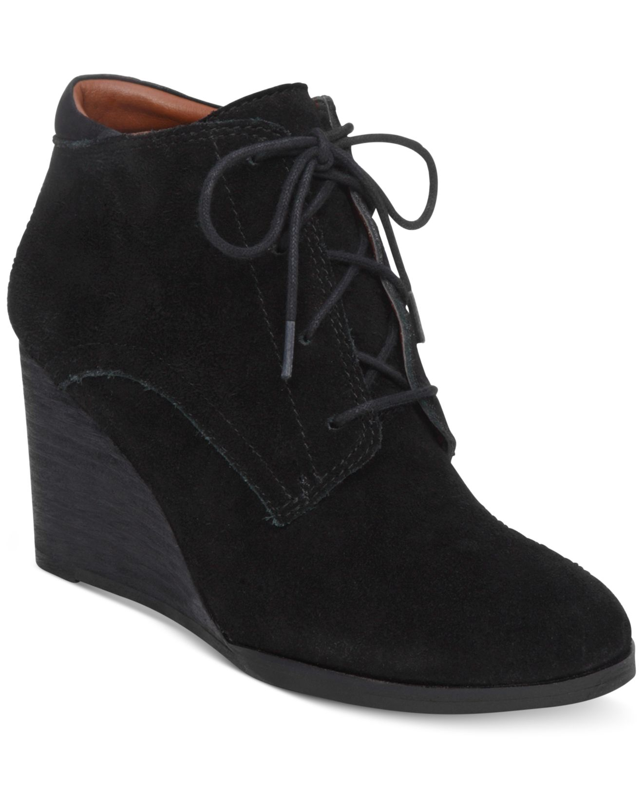 Lyst Lucky Brand Womens Sumba Lace Up Wedge Booties In