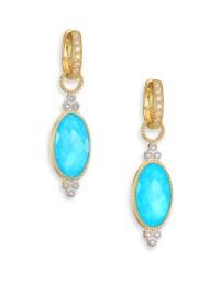Jude frances Provence Diamond, Turquoise, Moonstone & 18k