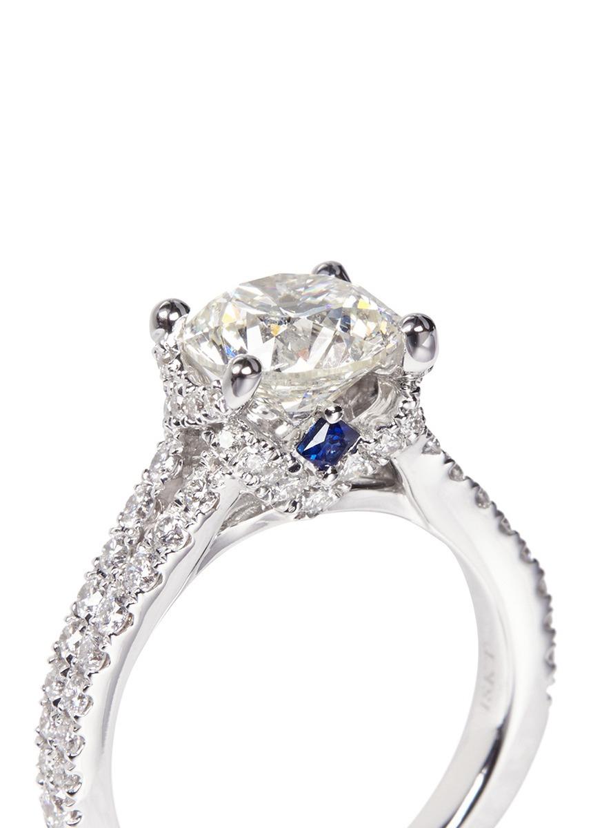 Lyst Vera Wang Love Boutique Diamond Engagement Ring In Metallic