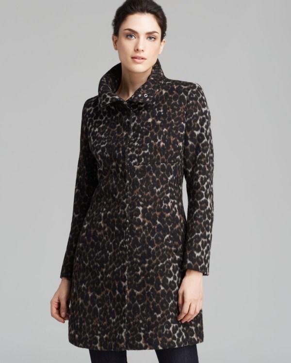 Spiga Coat - Leopard Print Walker In Gray Lyst