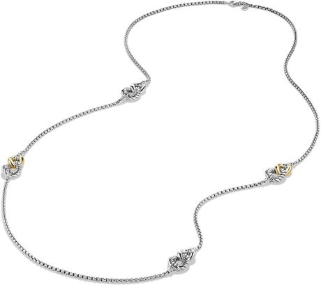 David Yurman Belmont Four Station Necklace With 18k Gold