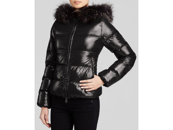 Lyst - Duvetica Adhara Jacket With Fur-trimmed Hood