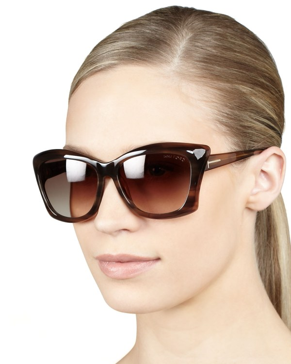 Tom Ford Lana Sunglasses Shiny Brown In Lyst