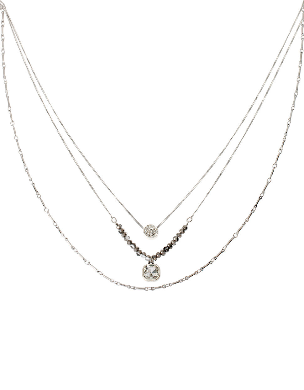 Kenneth cole Pave Circle And Square Crystal Three Tiered