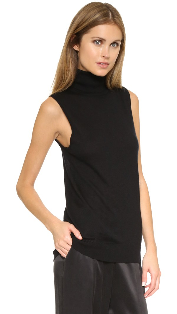 Lyst - Equipment Bette Sleeveless Turtleneck Sweater In Black