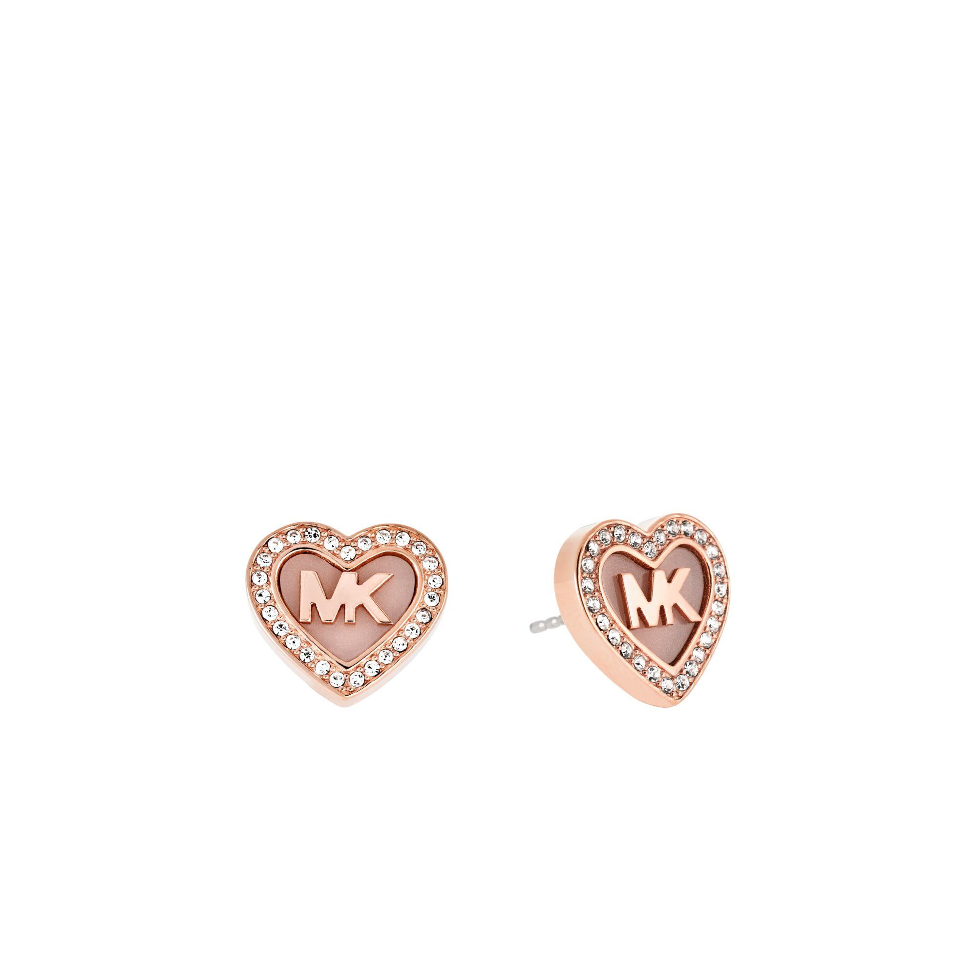 Michael Kors Logo Gold Tone Earrings