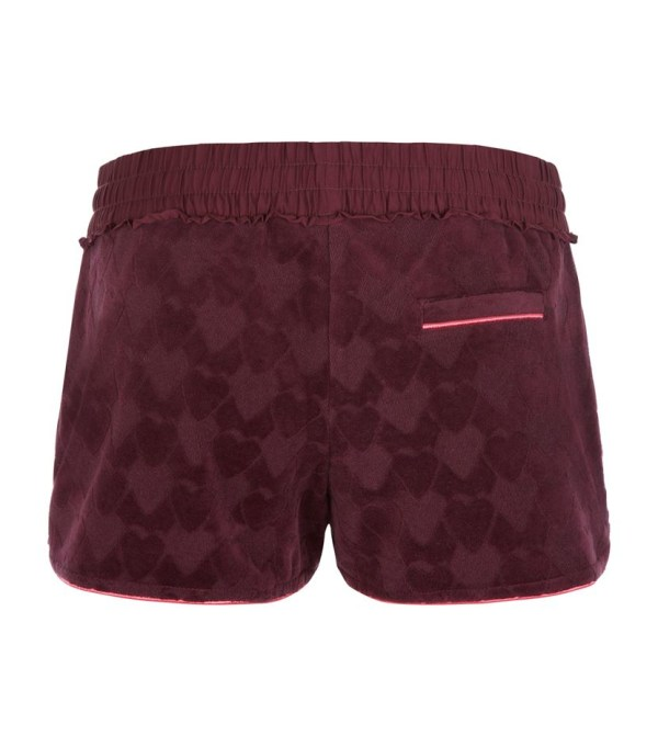 Juicy Couture Velour Jacquard Heart Shorts In Purple Lyst