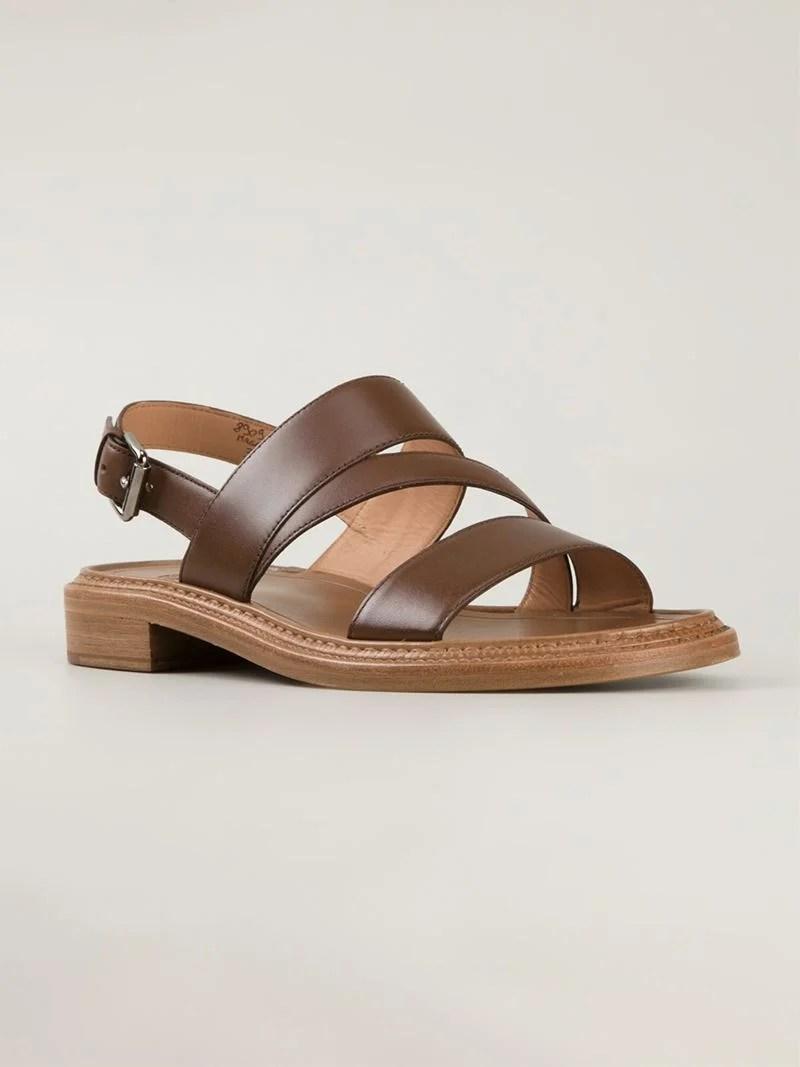 Lyst Churchs Strappy Flat Sandals In Brown