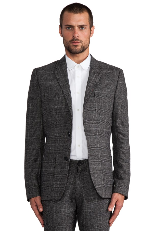 Lyst - Original Penguin Prince Of Whale Blazer In Charcoal