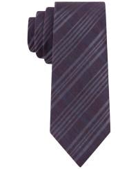Lyst - Calvin Klein Merlot Plaid Skinny Tie in Purple for Men