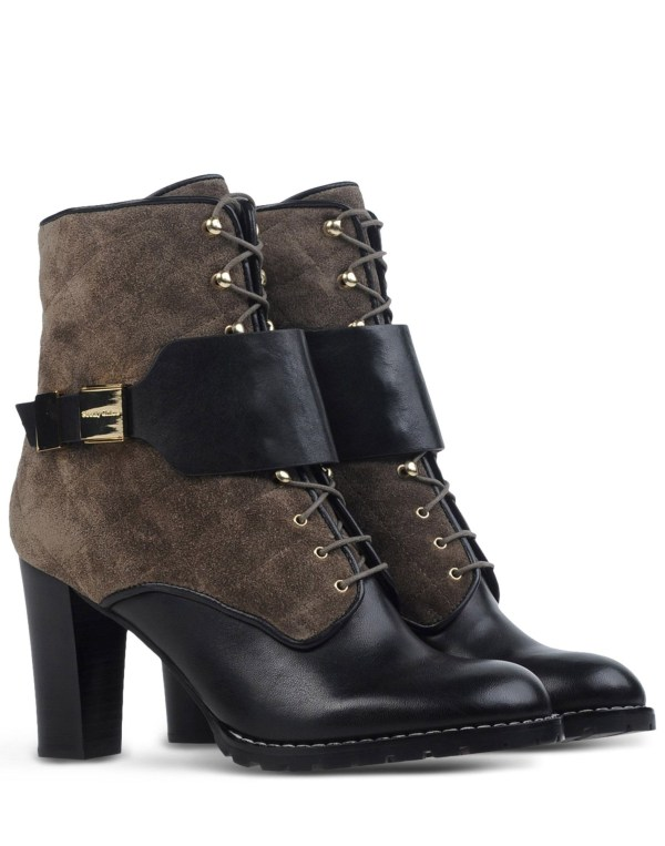 Chlo Lace- Suede Ankle Boots In Black Lyst