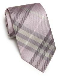 Burberry Check Silk Tie in Purple for Men | Lyst