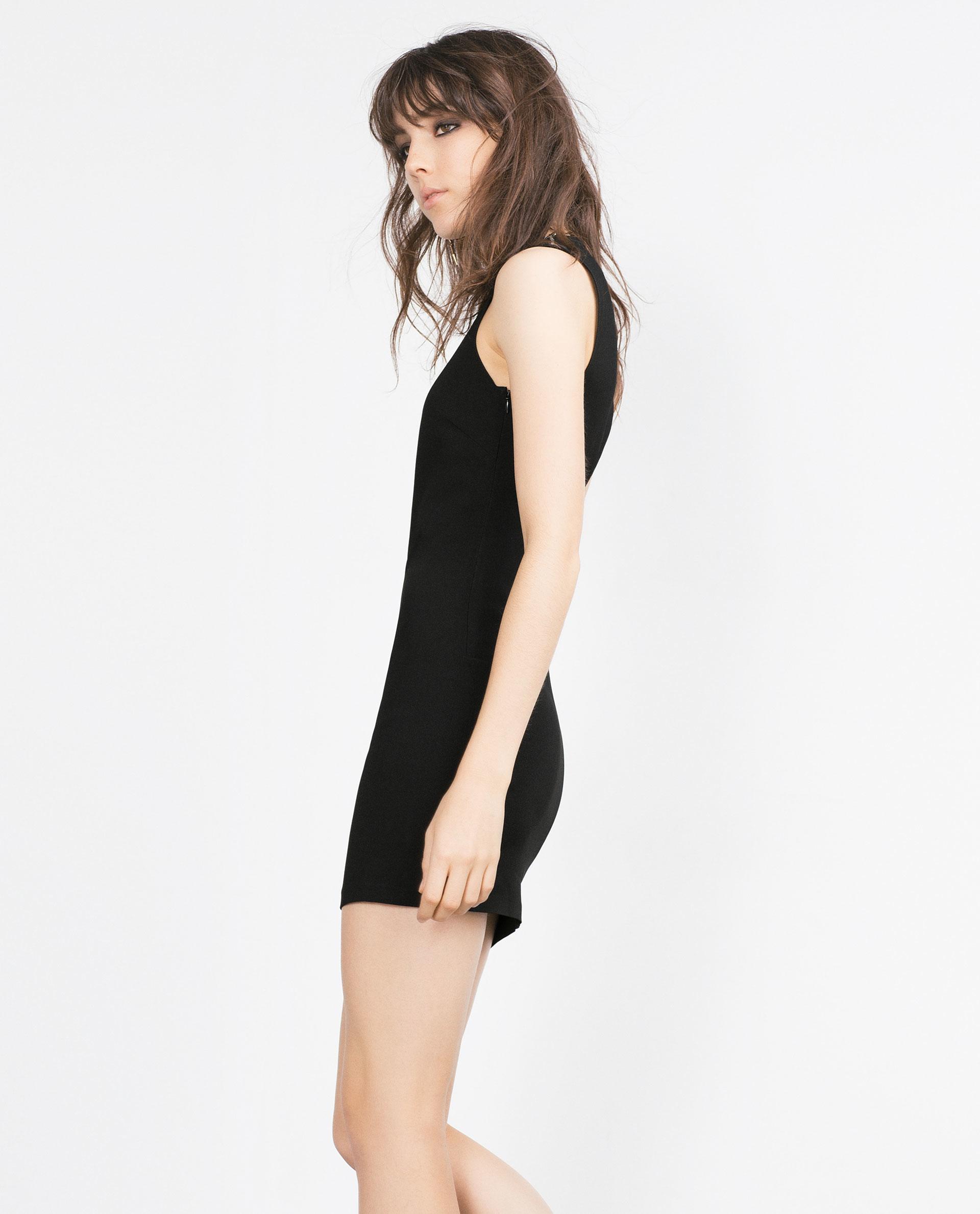 Zara Dress With Lowcut Back in Black  Lyst