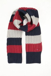 Tommy Hilfiger Rugby Cotton-blend Striped Scarf in Blue ...